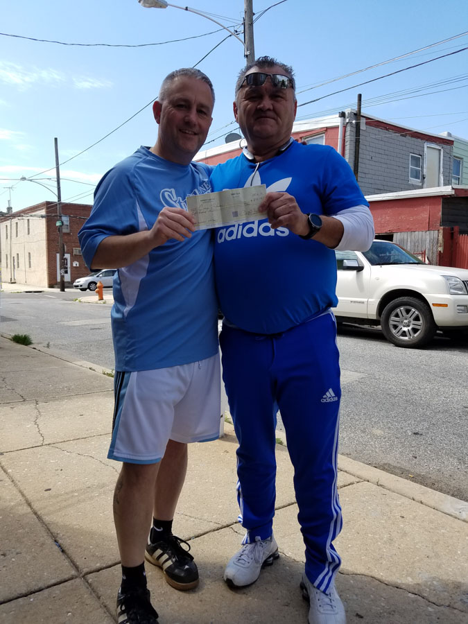 John Levy of the Cione Strikers and Mike Marko