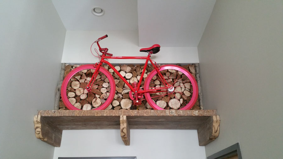 Medusa Pizzeria Bike Displayed on Wall/Michael Antonio Castaneda