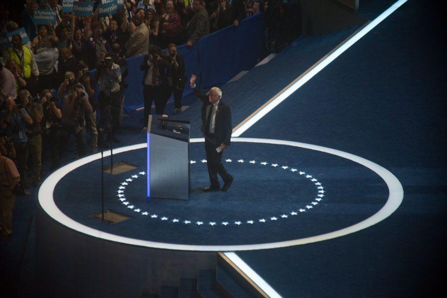 Bernie Sanders at the DNC./Max Pulcini