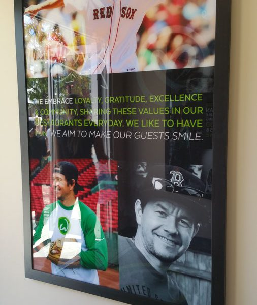 This picture in greets those who enter Wahlburgers./Michael Antonion Castaneda