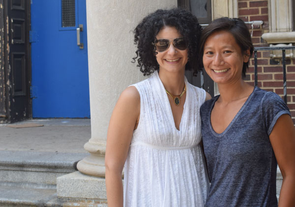 Jerilyn Dressler (left) and Nina Liou (right) from the Friends of Bache-Martin