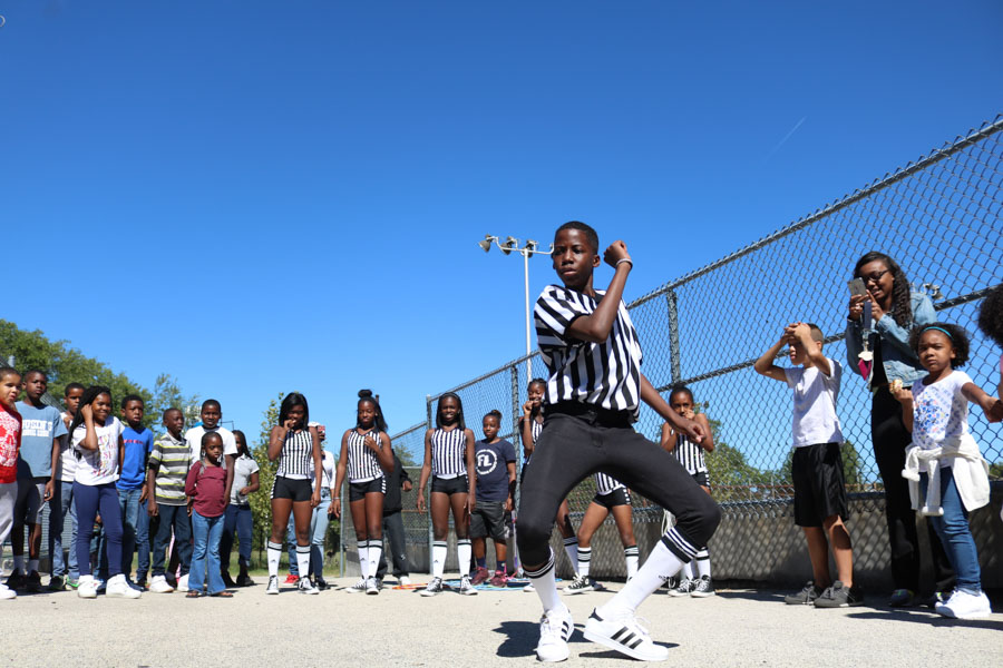 Dancers showed off their skills at a dance-off during the #Love4Logan charity event.