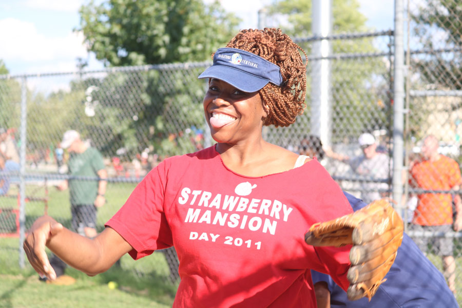 Tonetta Graham enjoys the 10th annual Step Up to the Plate: Strike Out Violence softball game./Kaitlyn Moore
