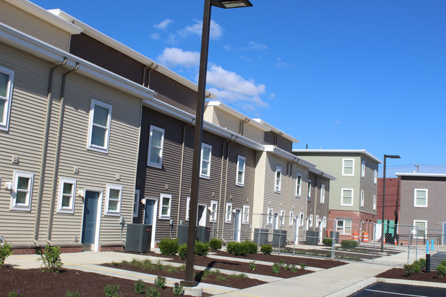 New homes now replace blight in Port Richmond as the Grace Townhomes are ready for residents.