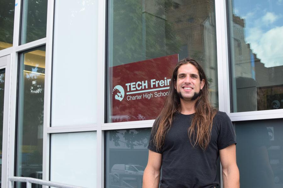 David Shahriari, head of school at TECH Freire Charter High School./Grace Shallow