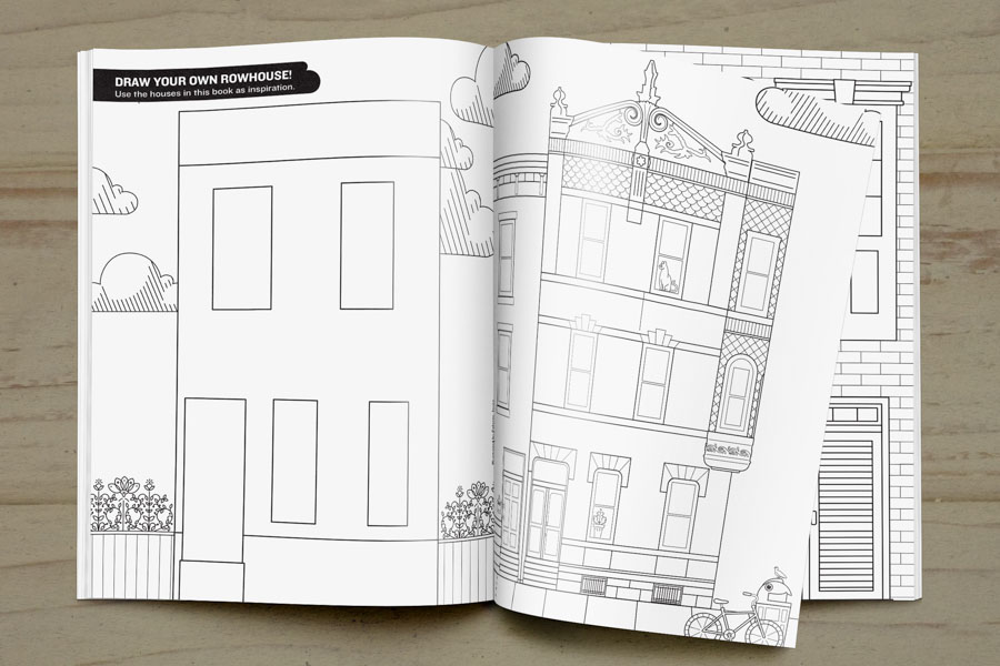 Spread from the Fishtown Coloring Book./PhillyRow