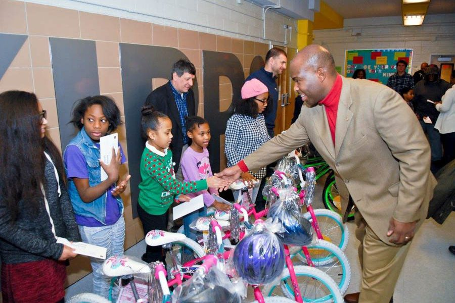Councilman Derek Green 2016 Bike Giveaway Event-77