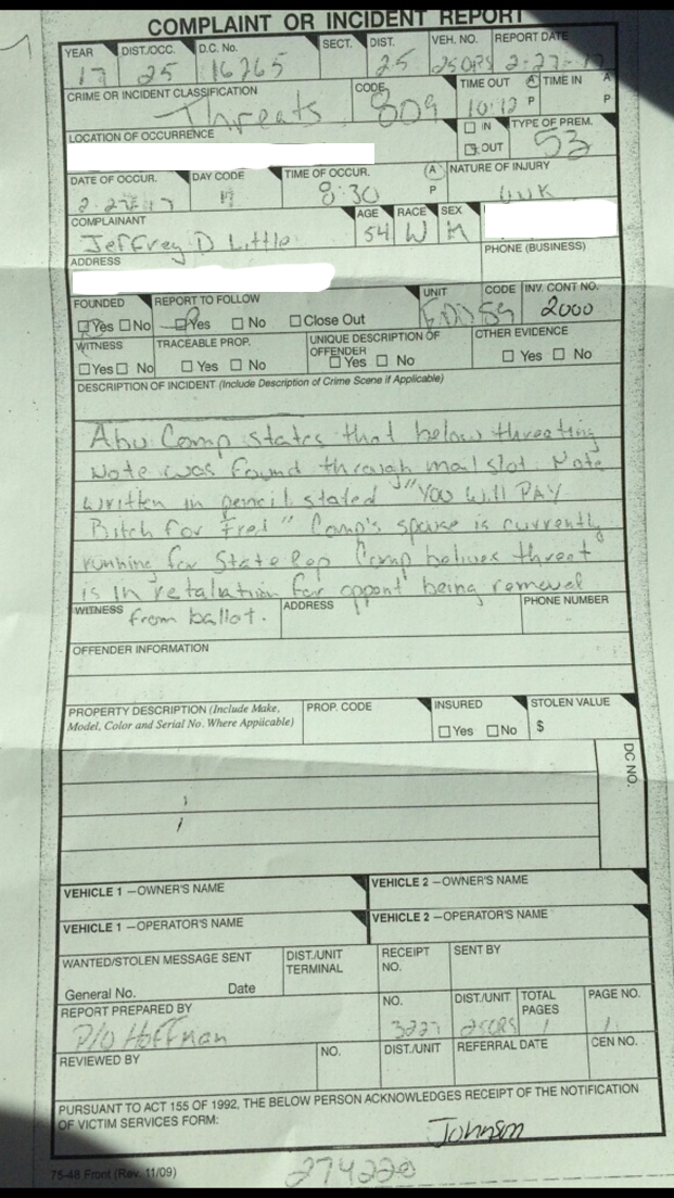 Lucinda Little Police Report