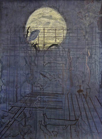 Caroline Furr, Moon Rises Over the Backyard