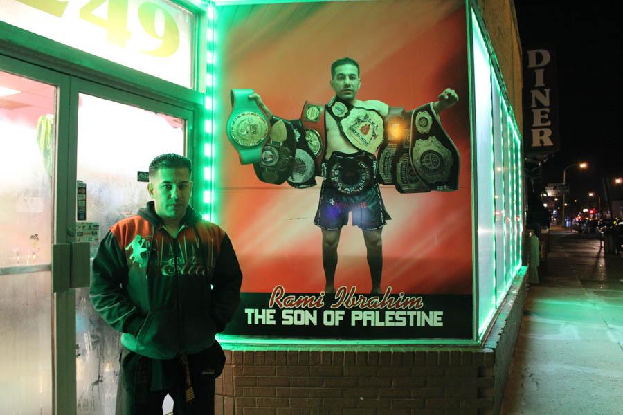 Rami Ibrahim outisde of his martial arts school./Ptah Gabrie