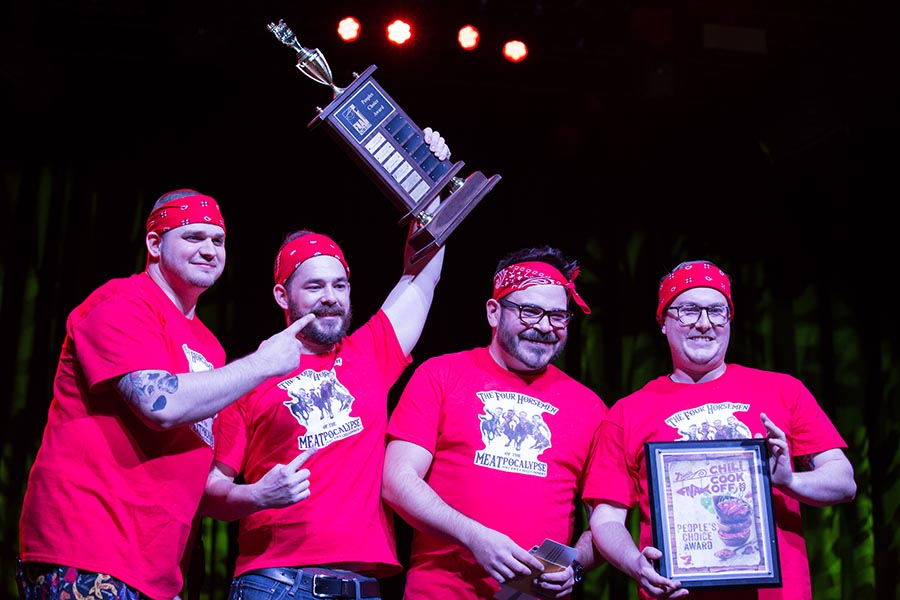 People's Choice Award winners The Four Horsemen of the Meatpocalypse celebrate their victory. /Patrick Clark