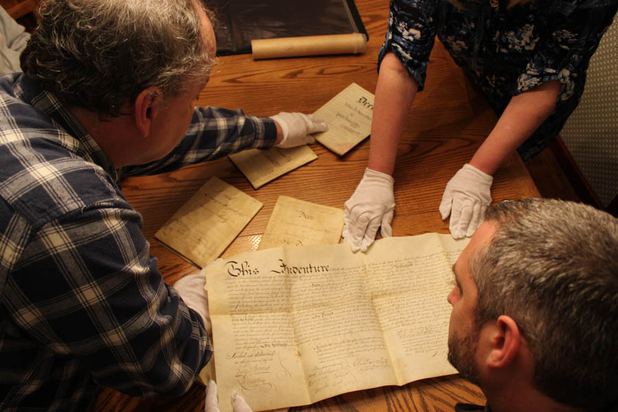 Local historian Ken Milano examines the documents