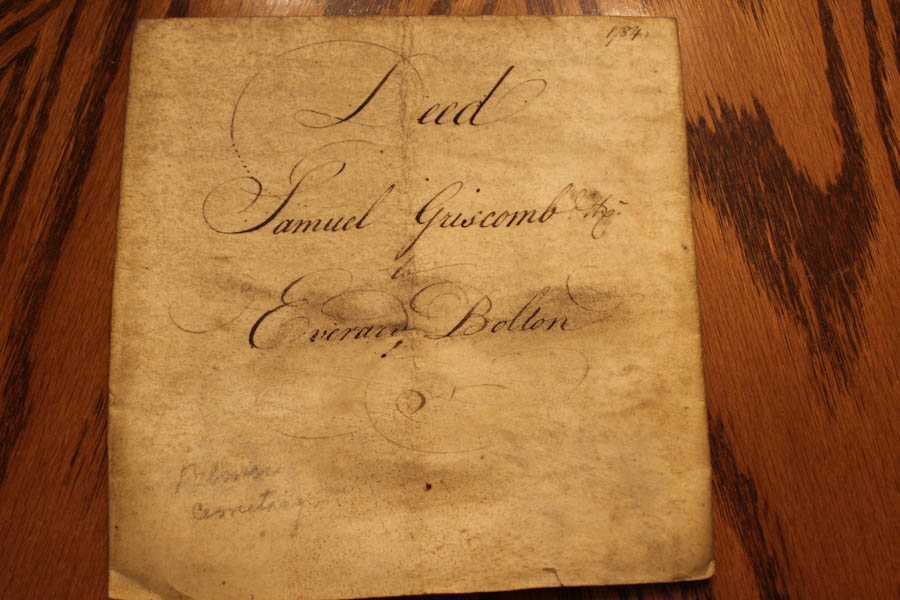 This deed from 1784 lists Samuel Griscom, Betsy Ross's father, as the seller of this property.