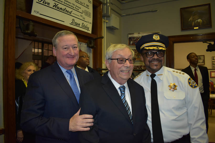 Mayor Kenney, Edward Magliocco & Sheriff Jewell Williams.