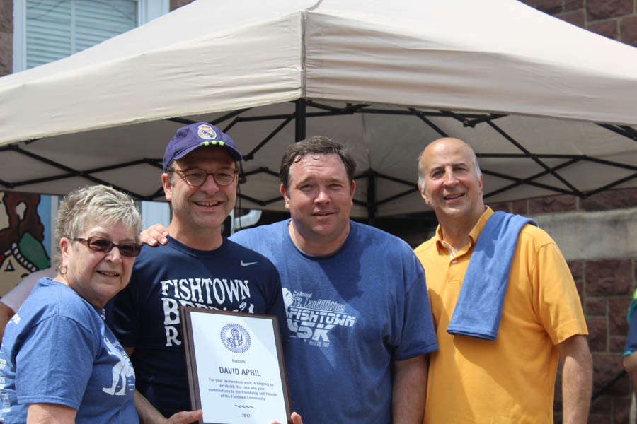 David April of the Fishtown Beer Runners was also recognized.