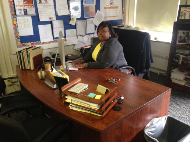 Principal/CEO Powell at her office