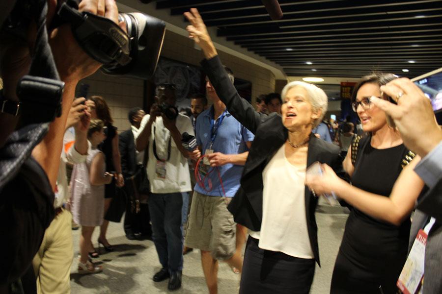 Jill Stein at the DNC/Ptah Gabrie