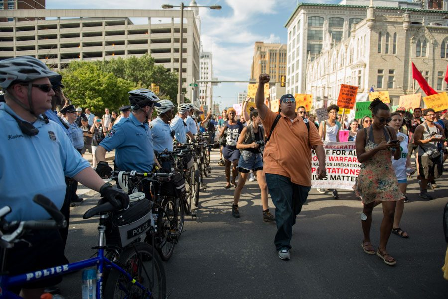 Coalition For REAL Justice March moves down Broad Street./Natalie Piserchio