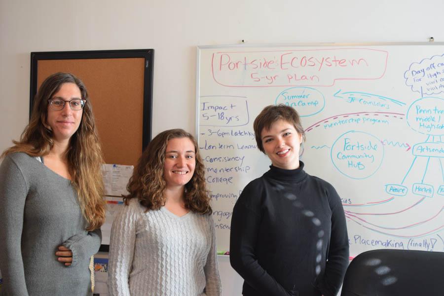 Jenna Wilchinsky, Sarah Damiano and Shannon Brooks