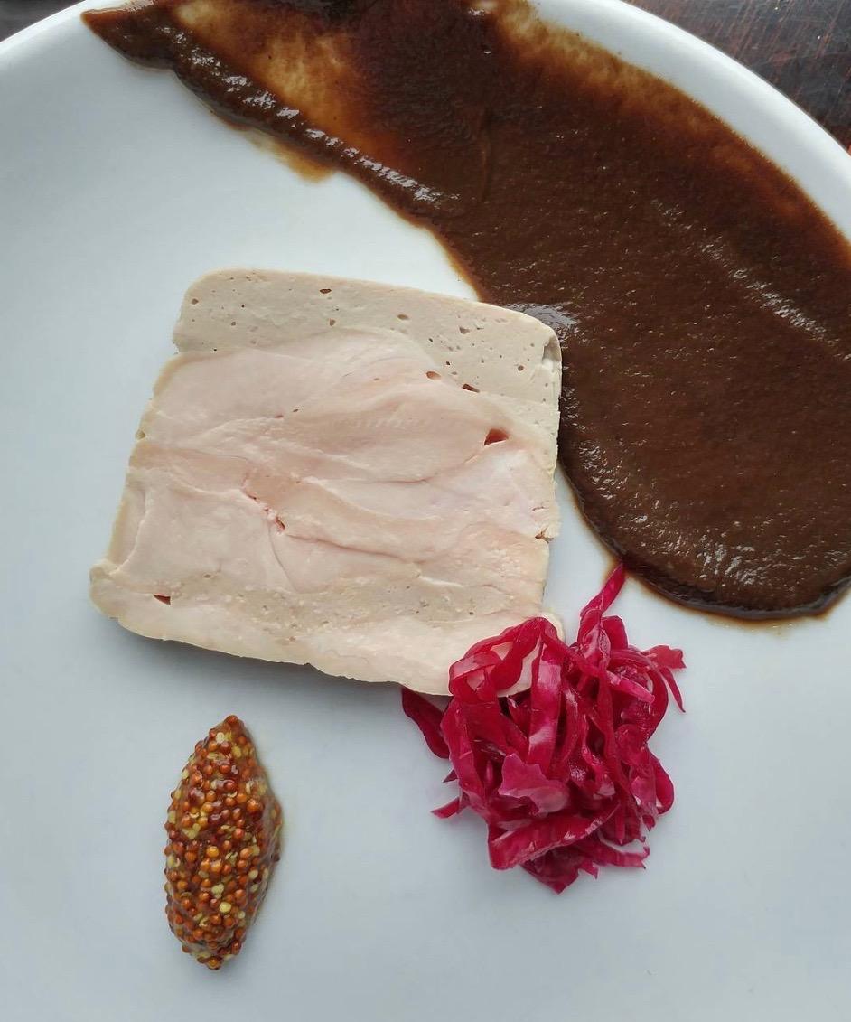 Guinea Hen Terrine, mushroom ketchup, sauerkraut./Courtest Adam Diltz