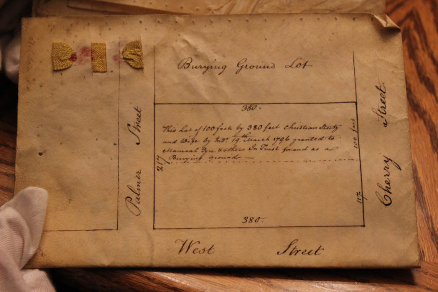This deed shows the transfer of the lot along Belgrade between Palmer and Montgomery Ave.