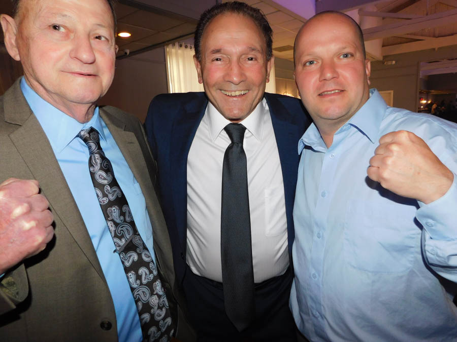 Frank, Chalie Sgrillo from the Harrowgate Boxing Club, and Freddie Druding Jr.