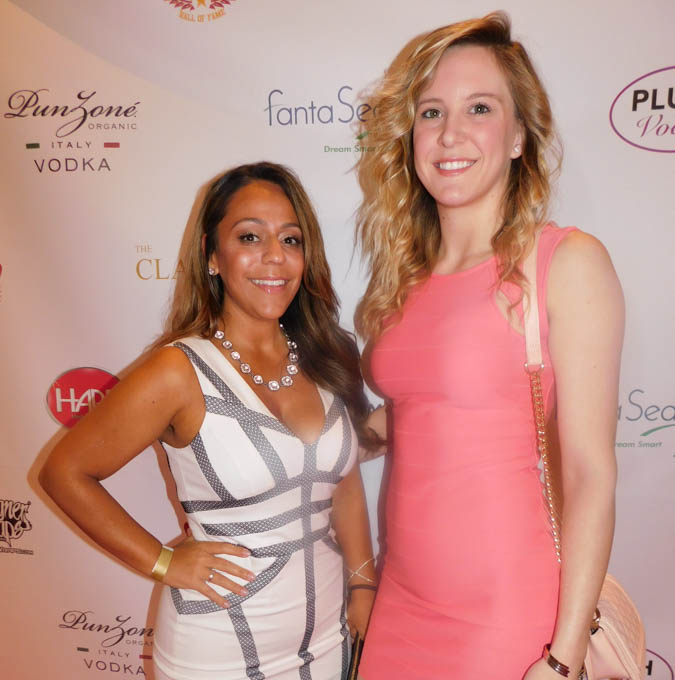 Promoters Michelle Rosado and Brittany Rodgers accompanied Mr. Peltz at the red carpet event.