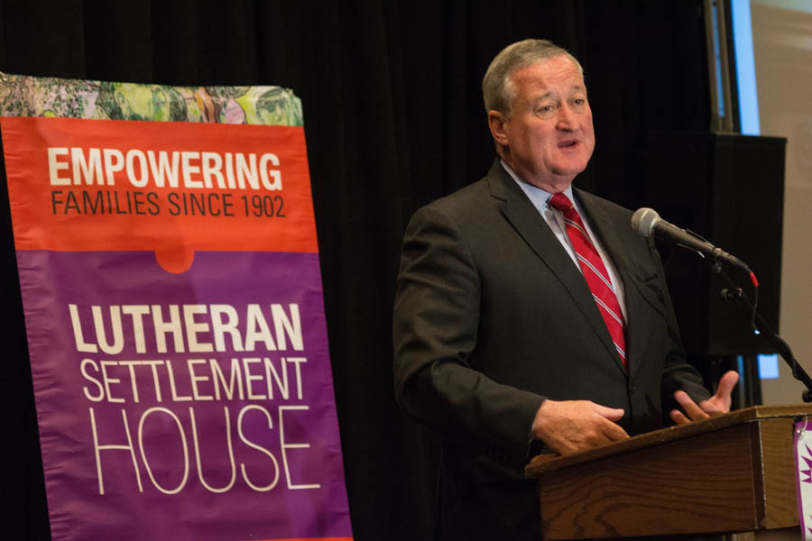 Mayor Jim Kenney gives opening remarks./Photo by Darryl Cobb, Jr.